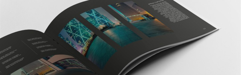 black architecture portfolio template