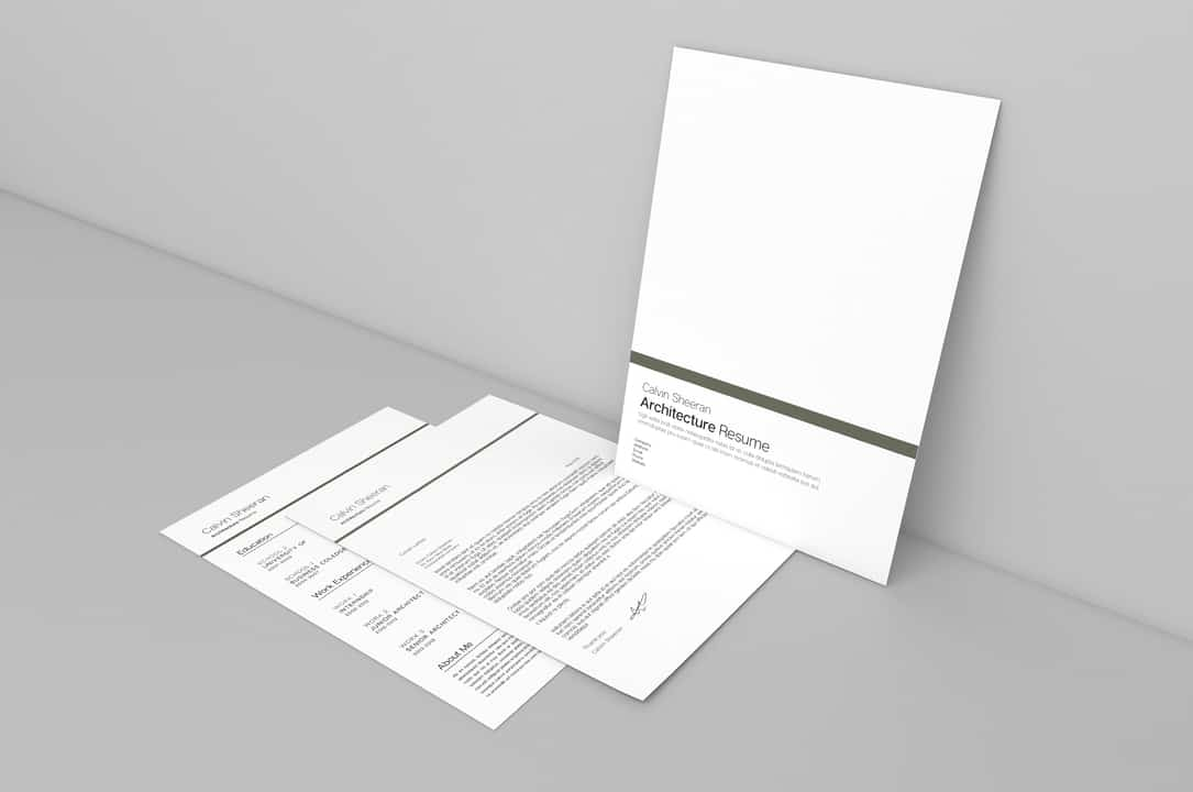 Calvin Cover Letter and Resume Template